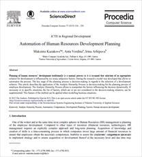 مقاله ترجمه شده با عنوان خودکارسازی برنامه ریزی توسعه منابع انسانی، به همراه اصل مقاله